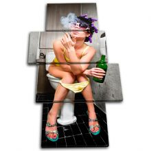 Smoking Girl Toilet Urban - 13-0160(00B)-MP04-PO